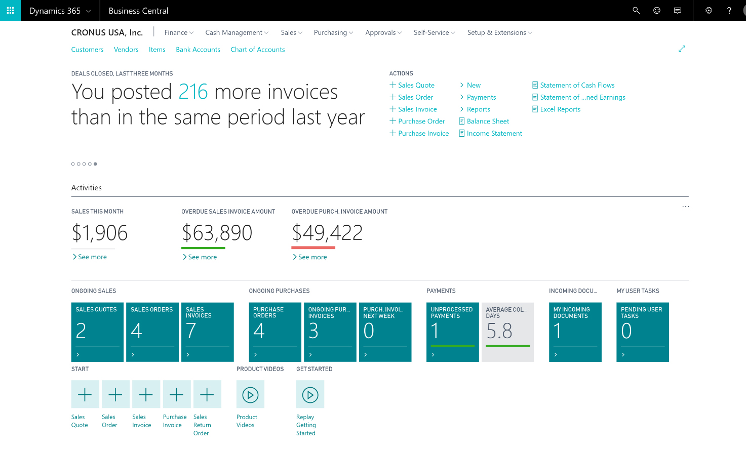 Microsoft Dynamics Business Central - Invoice 365